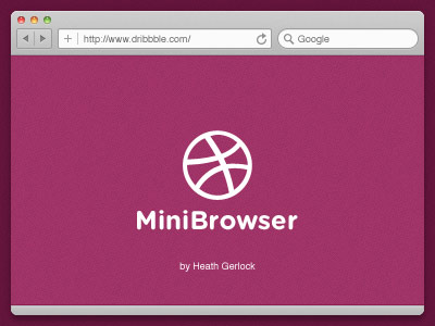 Web Browser PSD