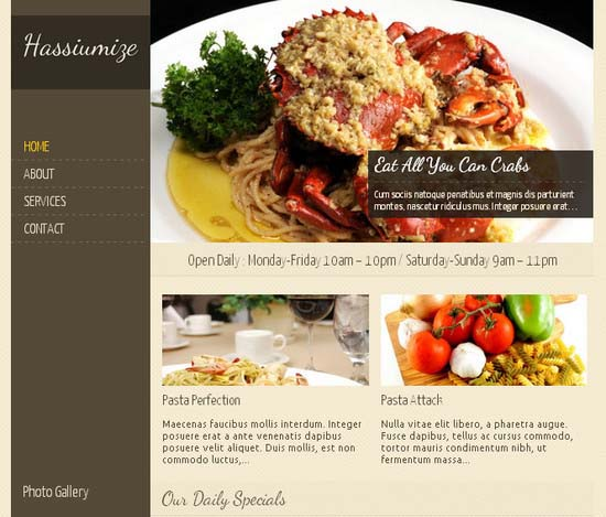 Hassiumize – Food & Restaurant WordPress Theme