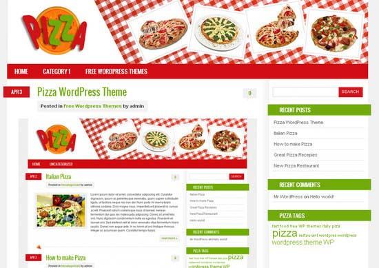 Pizza WordPress Theme