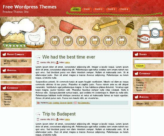 Recipes Magazine WordPress Theme