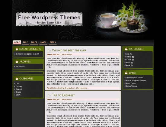 Delicious Dusk WordPress Theme
