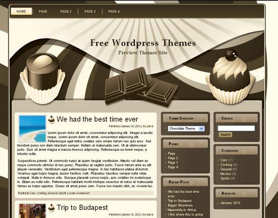 Chocolate Theme WordPress Theme