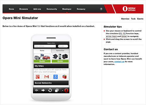 Opera Mini Simulator
